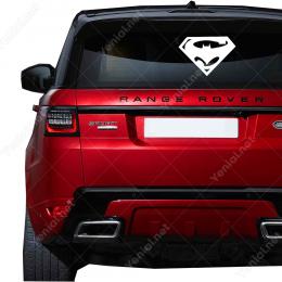 Süpermen ve Badman Yazısı Sticker Yapıştırma