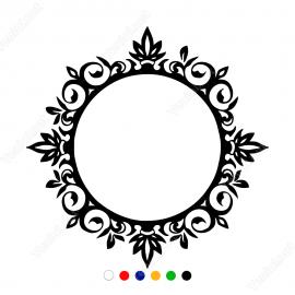 Taç Süsleme Silindir Üzerinde Yapraklar Motif Stickerı