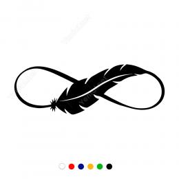 Tek Kuş Kanadı Ve Sonsuzluk İşareti Sticker Yapıştırma