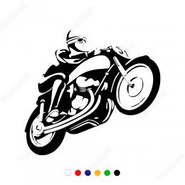 Tek Teker Motor Sticker Yapıştırma