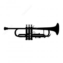 Trompet Sticker Etiket Yapıştırma