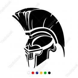 Truva Savaşcısı Başı Sticker Yapıştırma