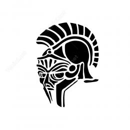 Truva Savaşcısı Maskesi Hektor Sticker