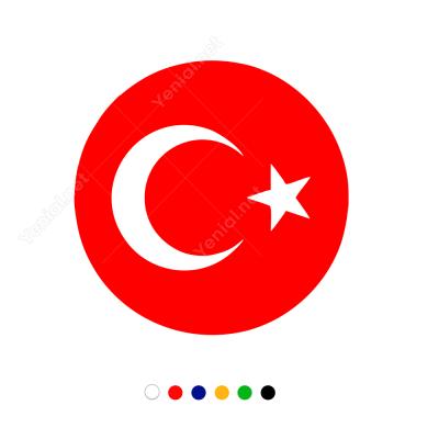 Türk Bayrağı Araç - Motosiklet Sticker Çıkartma