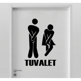 Tuvalet Wc (Komik) Kapı Duvar Sticker Yapıştırma