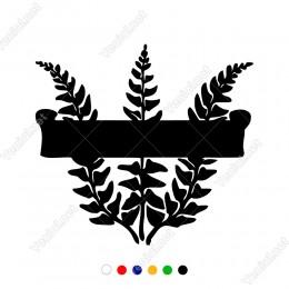 Üç Yaprak Simgeli Motif Desen Sticker