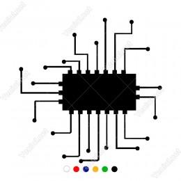 Veri Bağlama Aktarma Modern Düzen Şekil Sticker