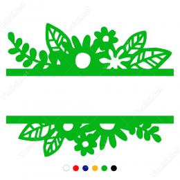 Vitrin Süslemeleri Çiçekli Yapraklı Sticker