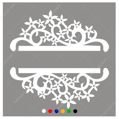 Vitrin Süslemeleri Küçük Çiçekli Sticker