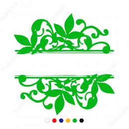 Vitrin Süslemeleri Yaprak Desenli Sticker