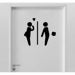 Wc Stickeri (Komik) Kapı Duvar Sticker Yapıştırma