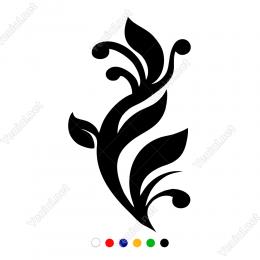 Yaprak Deseni Sticker Yapıştırma