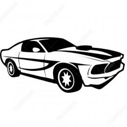 Yarış Arabaları Sticker