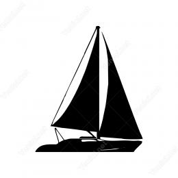 Yelkenli Yat Stickerı Yapıştırması