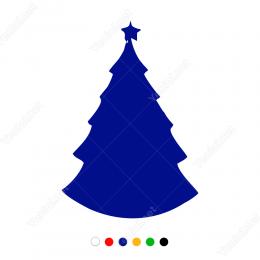 Yılbaşı Ağacı Sticker Çıkartma Süsleme 2019