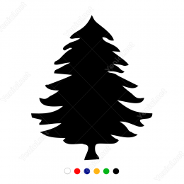 Yılbaşı Ağacı Sticker Çıkartma Süsleme
