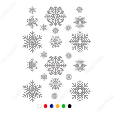 Yılbaşı Süslemeleri Kar Tanesi(22 Adet) Cam Stickeri
