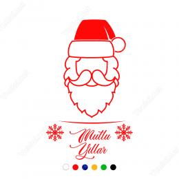 Yılbaşı Süslemeleri Noel Baba Sticker