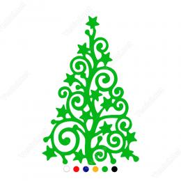 Yılbaşı Süslemesi Yılbaşı Ağacı Sticker Yapıştırma