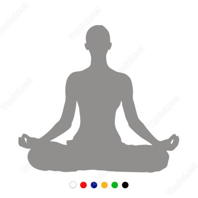 Yoga Yapan Kadın Figürü Sticker Yapıştırma