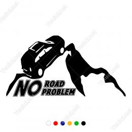 Yol Yok, Sıkıntı Yok. No Road No Problem Offroad Dakar Sticker Araba Sticker, Oto Sticker, Araba Çıkartmaları, Jeep için Aksesuarlar, 4X4 Sticker, Laptop ve Duvar için