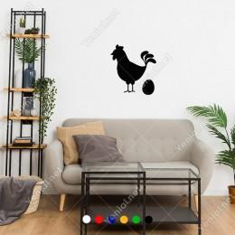 Yumurtlamış Tavuk ve Yumurtası Sticker