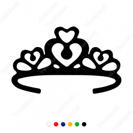 Zarif Kalpli Prenses Tacı Sticker Yapıştırma