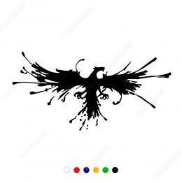 Zümrüdü Anka Kuşu  Sticker Yapıştırma
