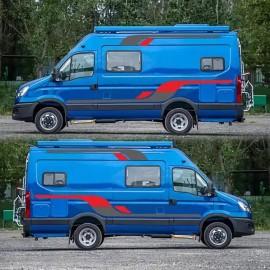 Araba sticker vinil grafik çıkartmaları Ford TRANSİT için LWB karavan römork karavan toptan hızlı teslimat