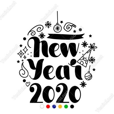 New Year Yeni Yıl 2020 Yazısı Yılbaşı Süslemesi 80x70cm