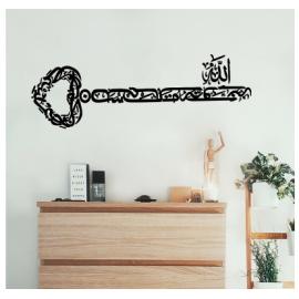 Bismillah Anahtarı Duvar Yazısı Cam Vitrin Sticker Yapıştırma