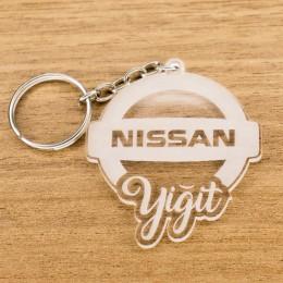 Nissan Logolu İsme Özel - Kişiye Özel Pleksi Anahtarlık - Arkadaşa, Sevgiliye Eşe Hediye