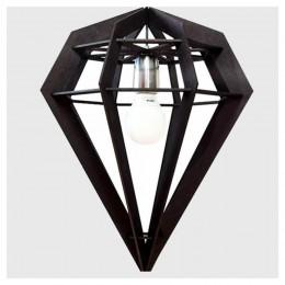 Dekoratif Diamonds Üçgen Siyah Ahşap Avize