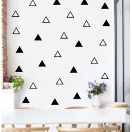Katı içi boş üçgen duvar çıkartmaları çocuk odası ev dekorasyon için oturma odası duvar çıkartmaları bebek kreş yatak odası dekoru