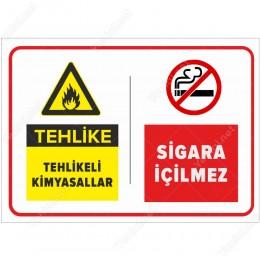 Tehlike Tehlikeli Kimyasallar - Sigara İçilmez Levhası