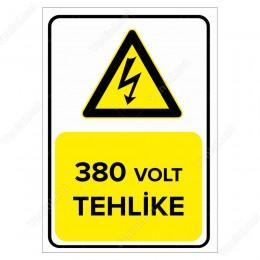 380 Volt Tehlike Levhası