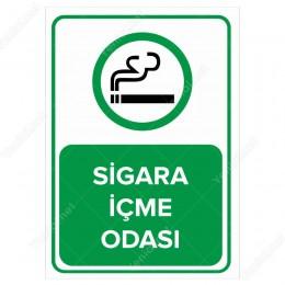 Sigara İçme Odası Levhası