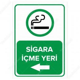 Sigara İçme Yeri Sol Ok Levhası