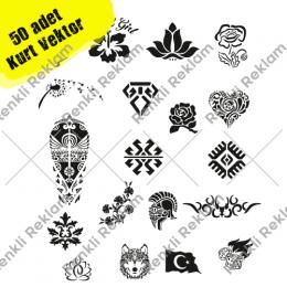 Tuğra Aslan Melek Horoz Kuş Kafesi  50 Adet Vektör Sticker Satın Al
