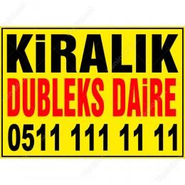 Kiralık Dubleks Daire Branda Afişi