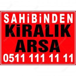 Kiralık Kiralık Arsa Branda Branda Afişi (Kırmızı Renk)