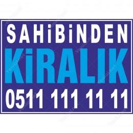 Sahibinden Kiralık Branda Afişi (Mavi Renk)