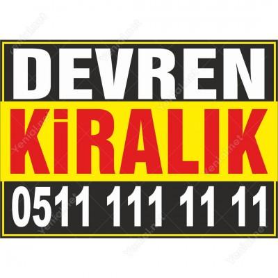 Devren Kiralık Branda Afişi (Sarı Siyah Renk)