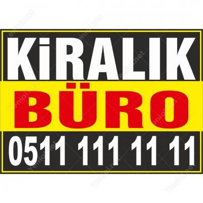 Kiralık Büro Branda Afişi (Sarı Siyah Renk)