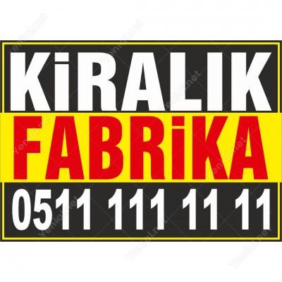 Kiralık Fabrika Branda Afişi (Sarı Siyah Renk)