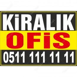 Kiralık Ofis Branda Afişi (Sarı Siyah Renk)