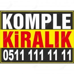 Komple Kiralık Branda Afişi (Sarı Siyah Renk)