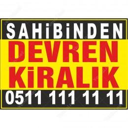 Sahibinden Devren Kiralık Branda Afişi (Sarı Siyah Renk)