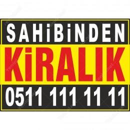 Sahibinden Kiralık Branda Afişi (Sarı Siyah Renk)