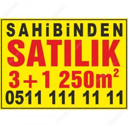 Sahibinden Satılık 3+1 250m2 Afişi